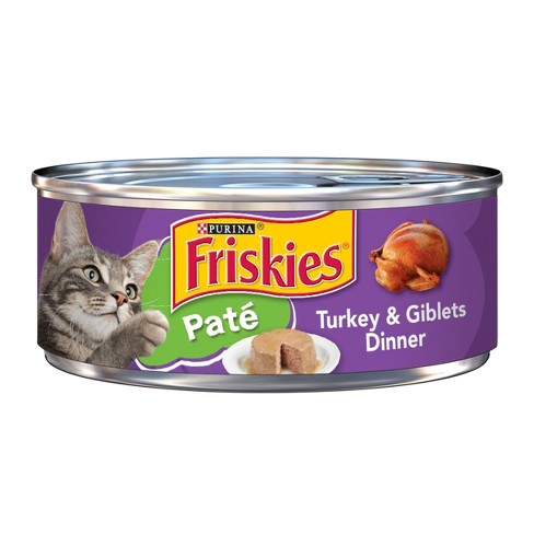 Purina® Friskies Classic Pate Turkey & Giblets Dinner Wet Cat Food - 5.5oz can - image 1 of 3
