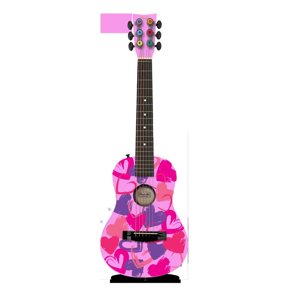 First Act Discovery - Acoustic Guitar - Pink Hearts
