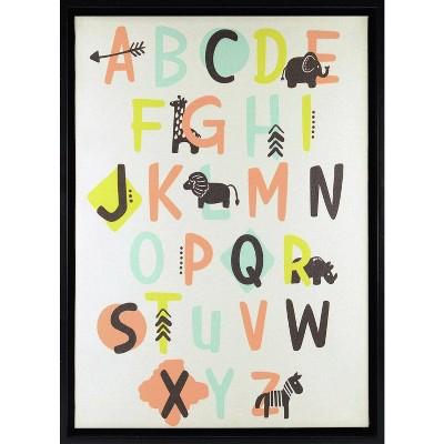 RoomMates Framed Wall Poster Prints Alphabet