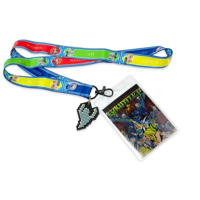Crowded Coop Midway Arcade Games Lanyard w/ ID Holder & Charm - Gauntlet