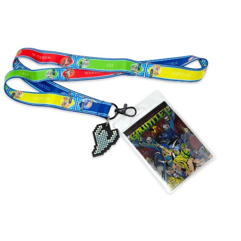 Crowded Coop Midway Arcade Games Lanyard w/ ID Holder & Charm - Gauntlet - image 1 of 4