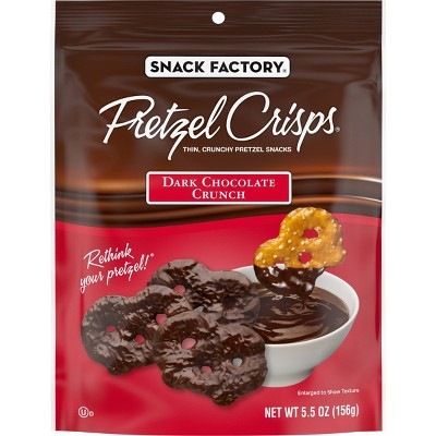 Snack Factory Dark Chocolate Crunch Pretzel Crisps - 5.5oz