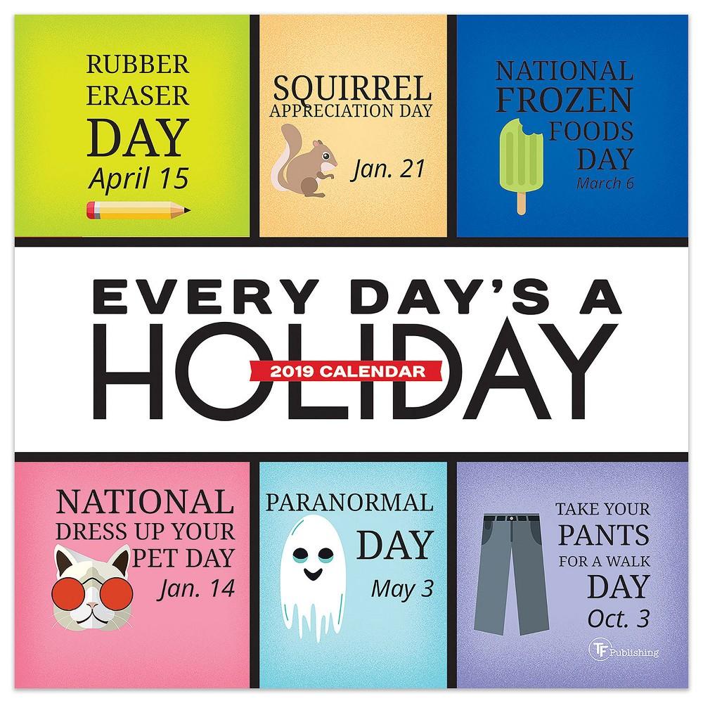 2019 Tented Desktop Calendar Daily Holiday - TF Publishing, 2019 Tf Publishing Every Day's A Holiday Daily Desk Calendar