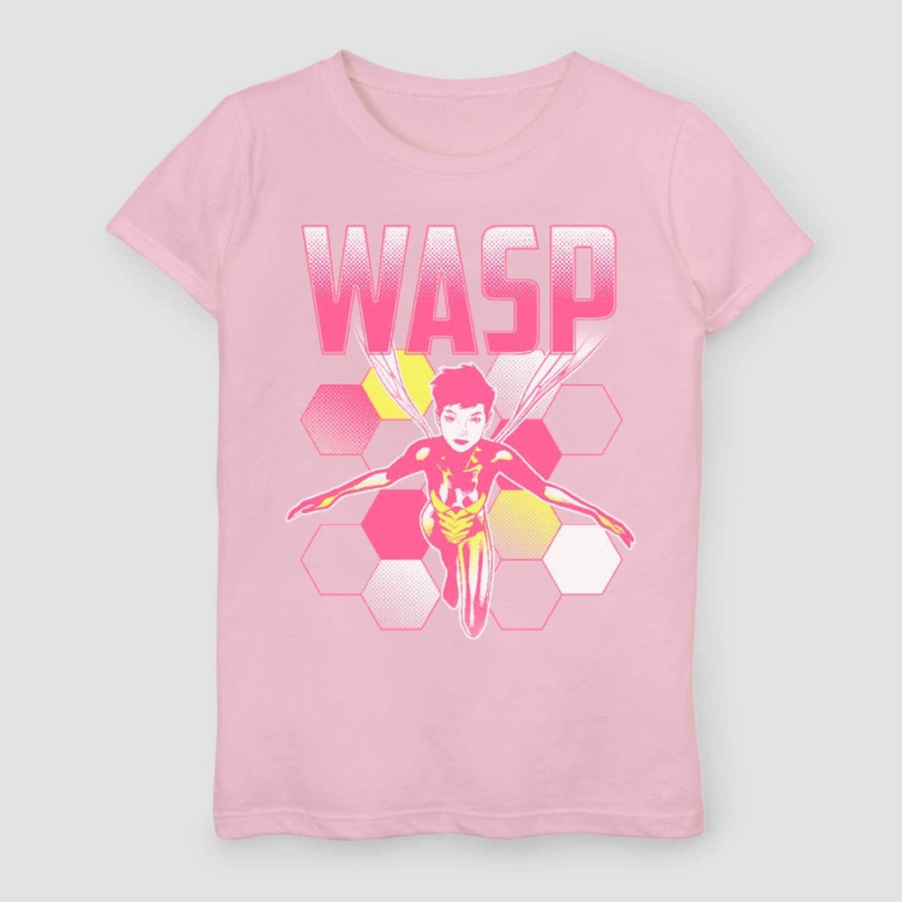 Girls' Marvel Ant-Man and Wasp Short Sleeve T-Shirt - Pink XS