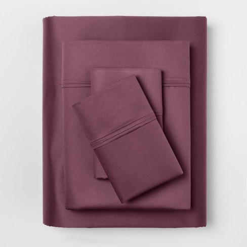 400 Thread Count Solid Performance Sheet Set - Threshold™ - image 1 of 4