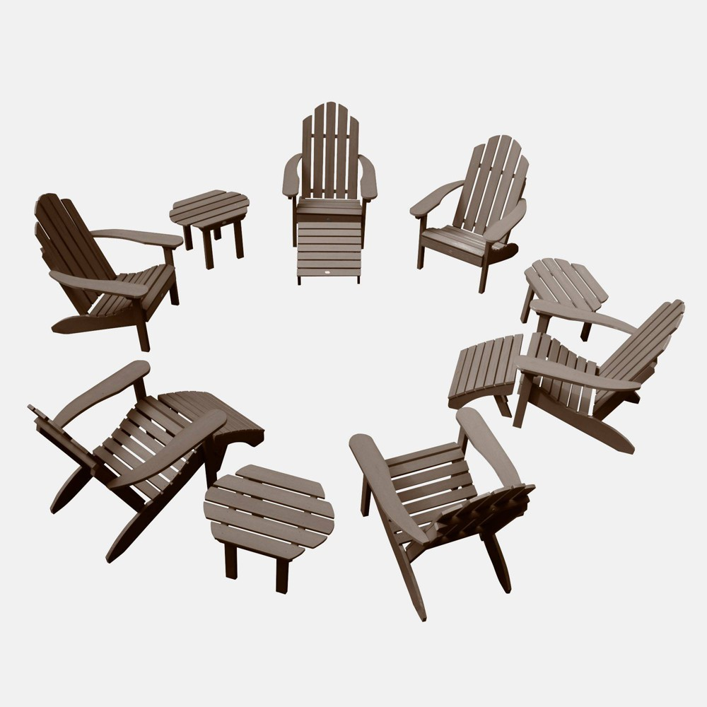 Image of 12pc Classic Westport Adirondack Patio Set Weathered Acorn - highwood