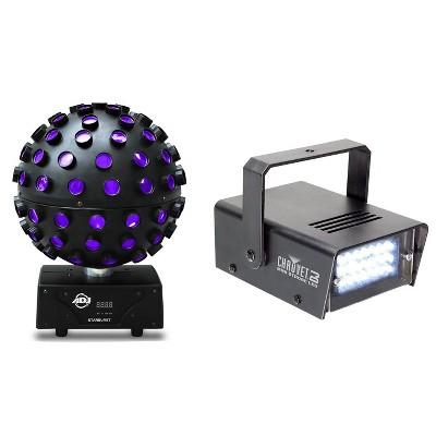 American DJ Starburst HEX LED Sphere Lighting Effect and Mini LED Strobe Light
