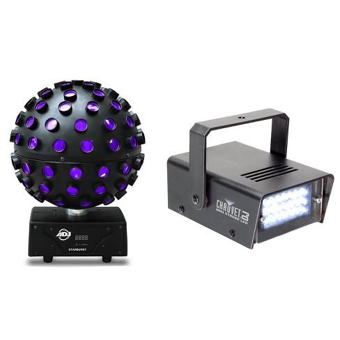 American DJ Starburst HEX LED Sphere Lighting Effect and Mini LED Strobe Light - image 1 of 4