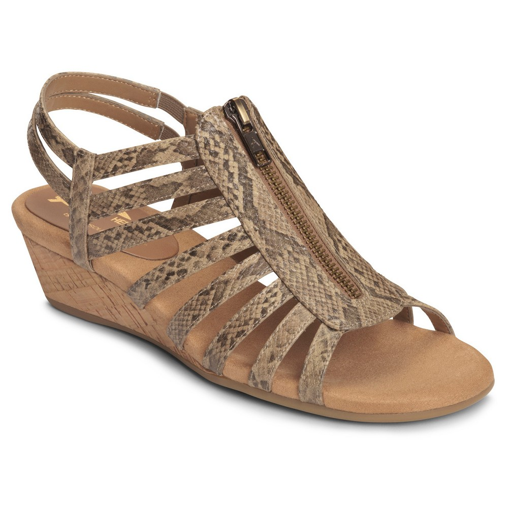 Women's A2 by Aerosoles Yetaway Zip-Front Gladiator Sandals - Tan 6.5