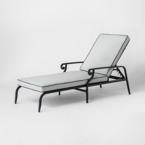 Chester Aluminum Patio Chaise Lounge Threshold