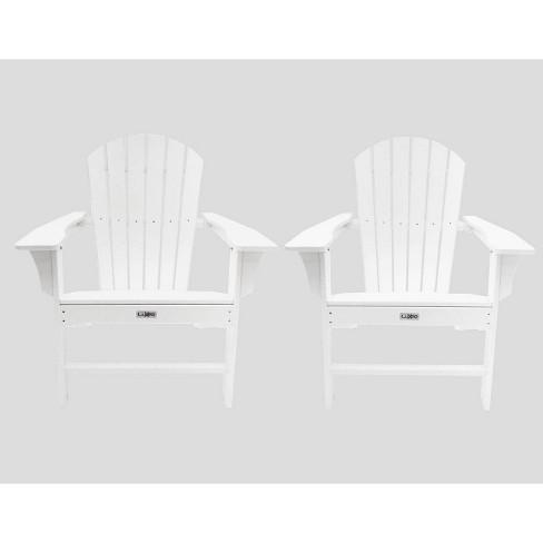 2pk Hampton Poly Outdoor Patio Adirondack Chair - LuXeo - image 1 of 4