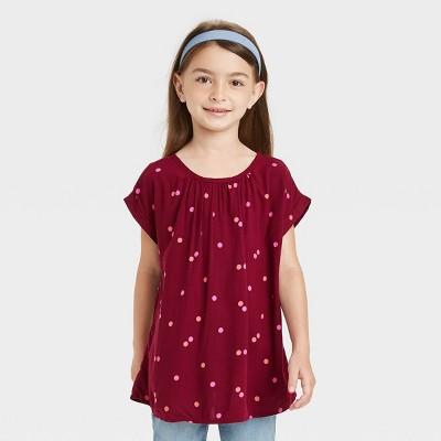 Girls' Short Sleeve Woven Top - Cat & Jack™