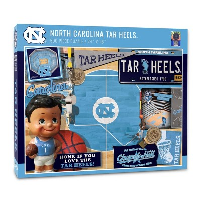NCAA North Carolina Tar Heels Throwback Puzzle 500pc