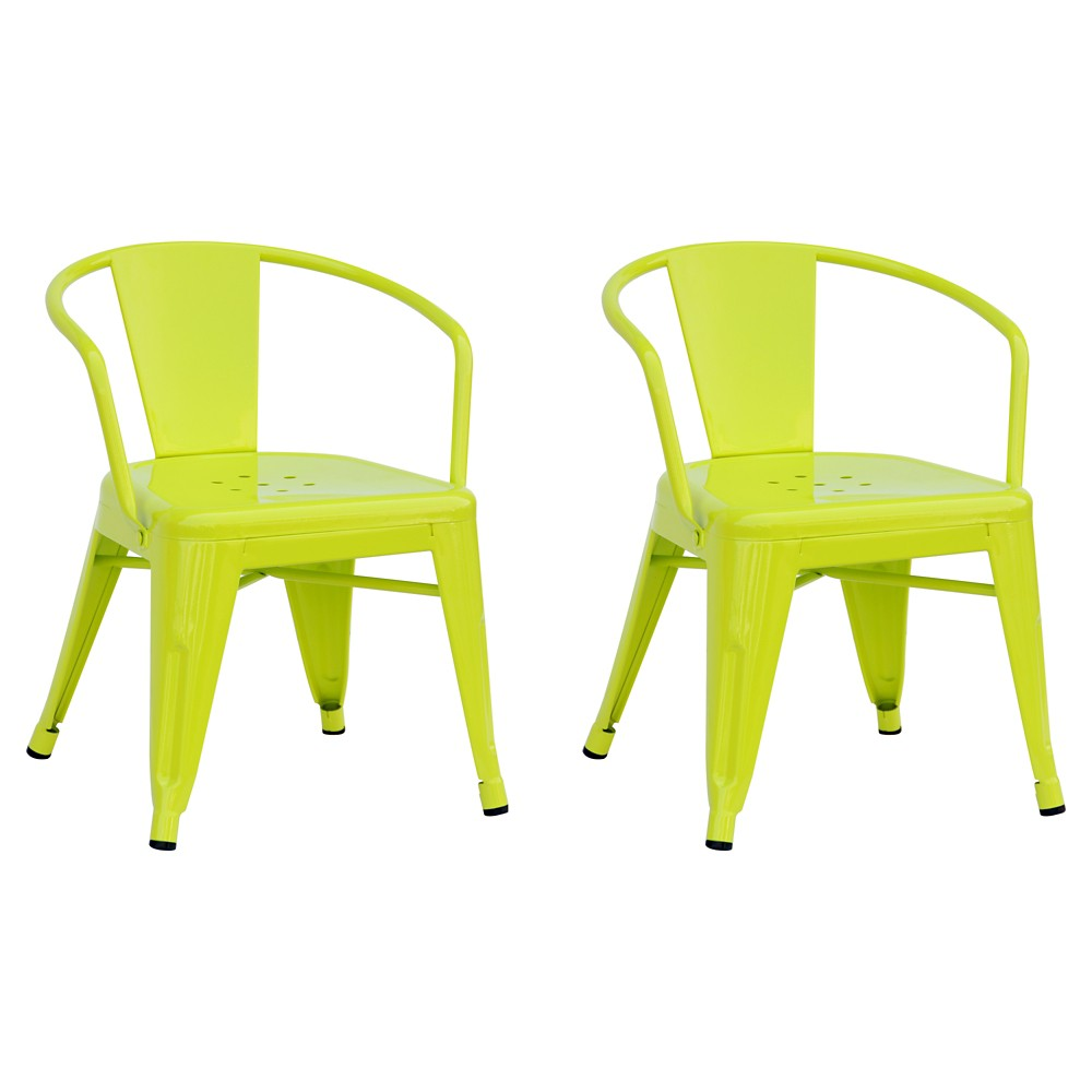 Industrial Kids Activity Chair (Set of 2) - Lime Tone - Pillowfort