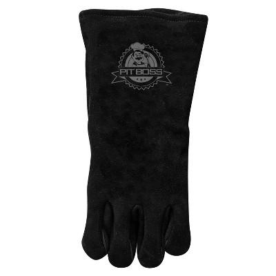Heavy Duty Leather Glove Black - Pit Boss