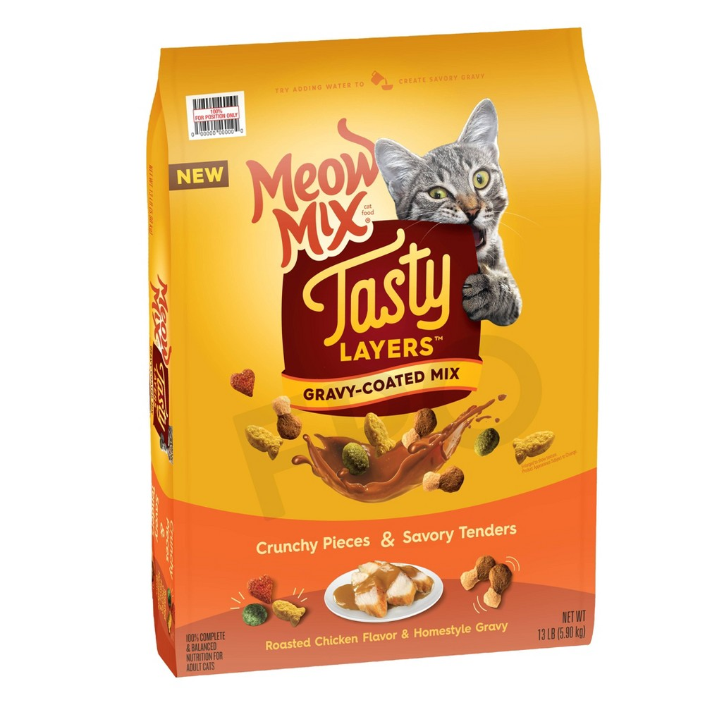 Meow Mix Tasty Tasty Layers Roasted Chicken Flavor And Homestyle Gravy Dry Cat Food 13lbs