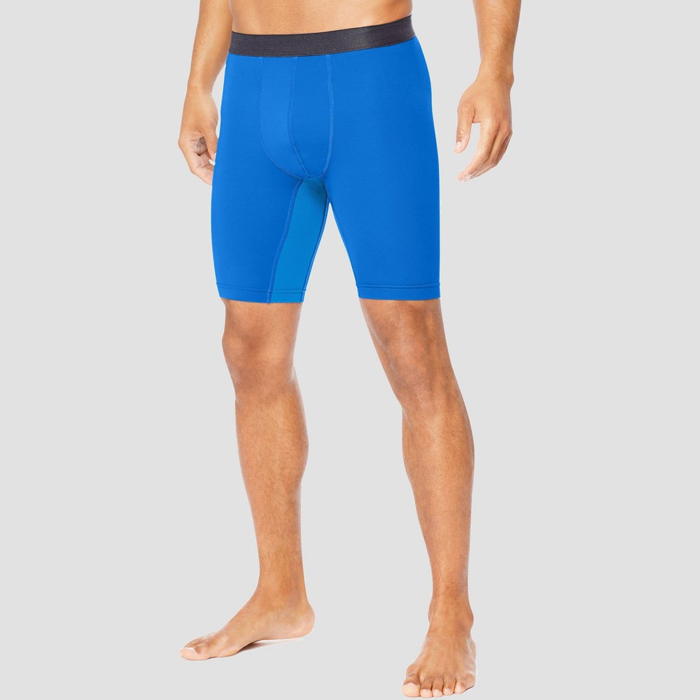 Hanes Sport Men's 9 Performance Compression Shorts - Awesome Blue S