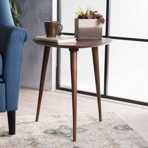 Naja End Table Wood Walnut Christopher Knight Home Target