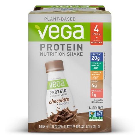 e1fd23e4b0 Vega Vegan Protein Shake - Chocolate - 4pk : Target