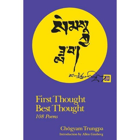 First Thought Best Thought - by  Chogyam Trungpa (Paperback) - image 1 of 1