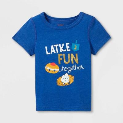 Toddler Boys' Adaptive Hanukkah Short Sleeve Graphic T-Shirt - Cat & Jack™ Blue