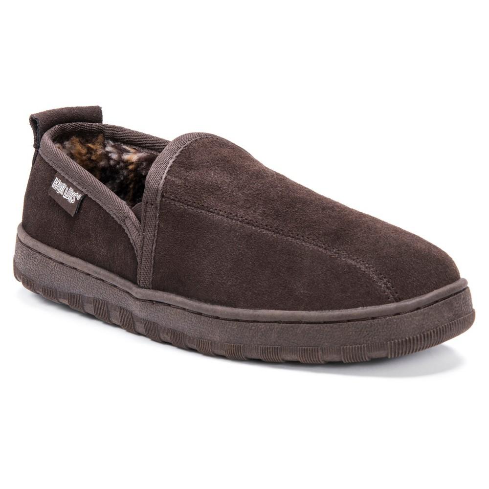 Image of Men's MUK LUKS Berber Suede Slip On Slippers - Brown 12, Men's