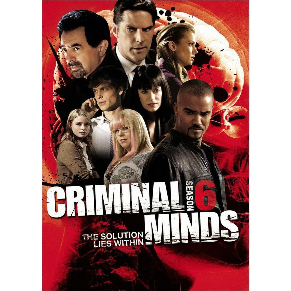 Criminal Minds Season 6 Dvd