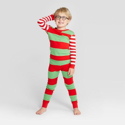 87583a01f Kids  Striped Holiday Rugby Pajama Set - Wondershop™ Red   Target