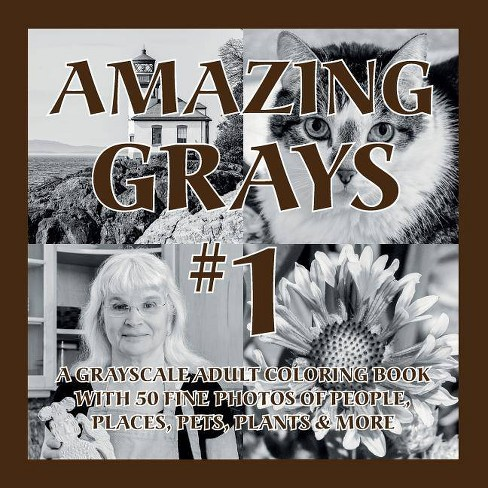 Amazing Grays #1 - (Amazing Grayscale) by  Islander Coloring (Paperback) - image 1 of 1