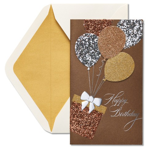 Papyrus Glitter Balloons Birthday Card - image 1 of 3