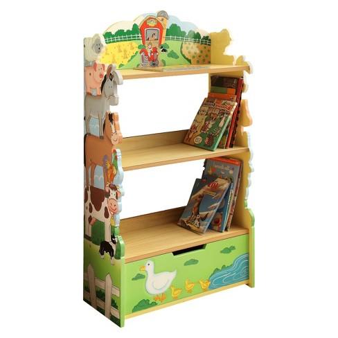 Fantasy Fields Happy Farm Animals Bookshelf Wood Teamson Target