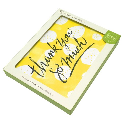 10ct Sunshine Thank You Cards Green Inspired Target