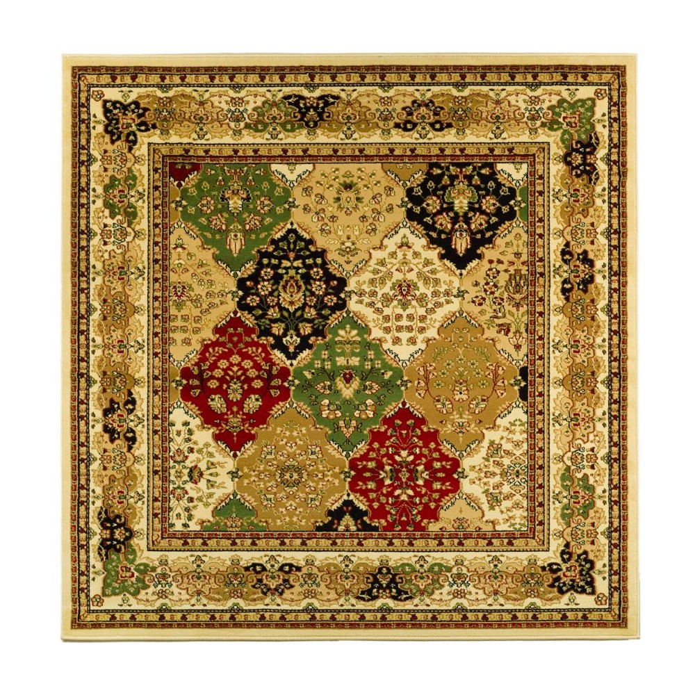 6'X6' Loomed Floral Square Area Rug Ivory - Safavieh, Multicolored