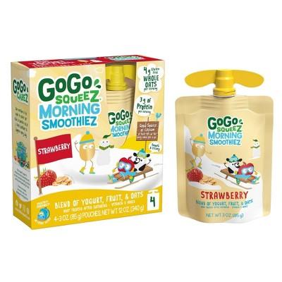 GoGo Squeeze Morning Smoothie - Strawberry - 3oz/4ct