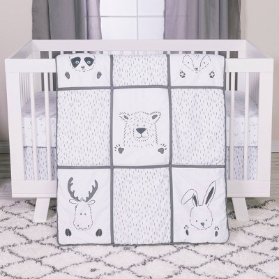 Trend Lab Peek-a-Boo Forest Crib Bedding Set - 3pc