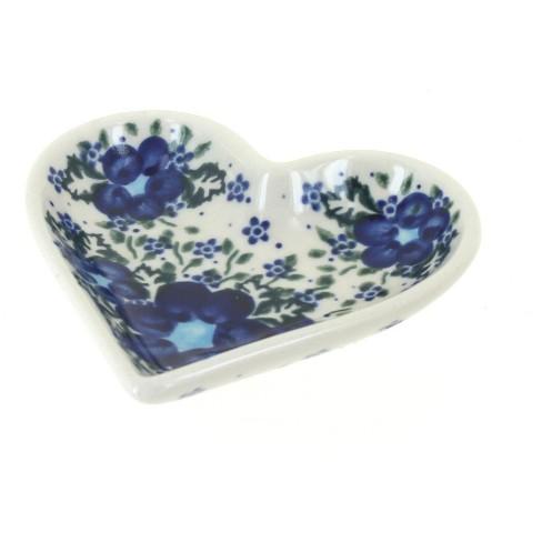 Blue Rose Polish Pottery Melanie Heart Dish - image 1 of 1