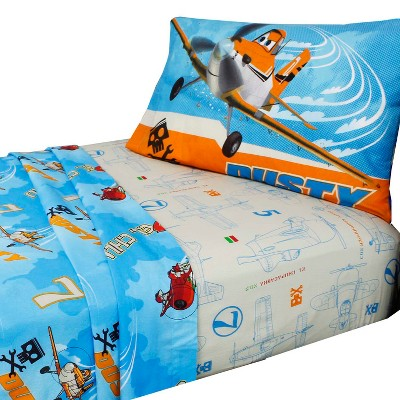 Planes Twin Bed Sheet Set 3pc Dusty Crophopper Bedding Accessories - Disney..