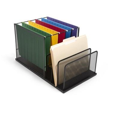 TRU RED 4 Compartment Wire Mesh File Organizer TR57536