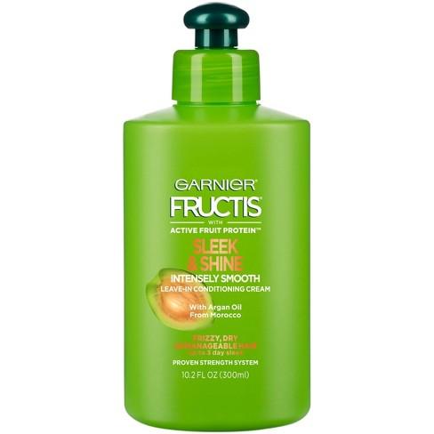 Garnier Fructis Sleek & Shine Intensely Smooth Leave-In Conditioning Cream - 10.2 fl oz - image 1 of 4