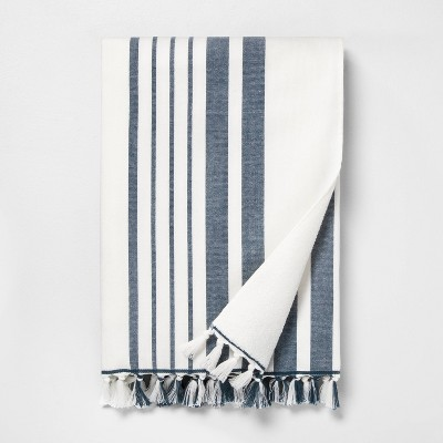 Stripe Beach Towel Navy / Sour Cream - Hearth & Hand™ with Magnolia