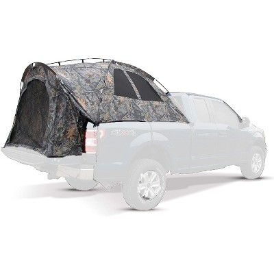 Napier Backroadz Vehicle Specific Full Size Short Truck Bed Portable 2 Person Outdoor Camping Tent with Convenient Carry Bag, Camouflage