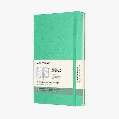 """2021-22 Academic 18 Month Planner 5"""" x 8.25"""" Weekly Large New Color - Moleskine"""