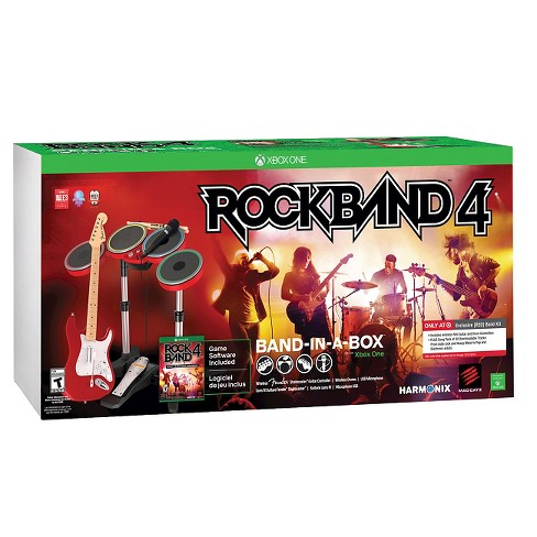 Rock Band 4 Exclusive [RED] Band In-A-Box Bundle Xbox One - image 1 of 5