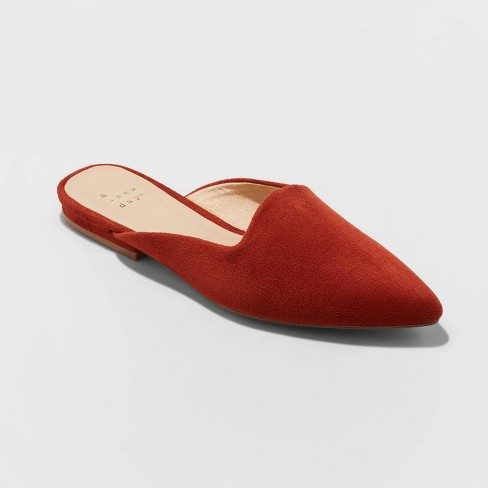 Women's Kurin Microsuede Square Throat Mules - A New Day™ - image 1 of 3