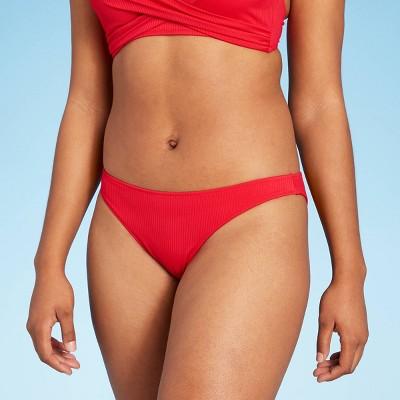 Women's Ribbed High Leg Extra Cheeky Bikini Bottom - Shade & Shore™