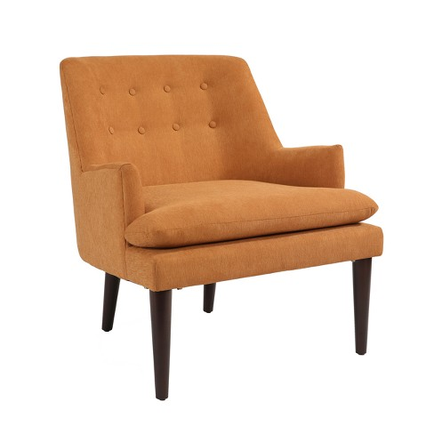 Karl Mid Century Accent Chair Orange Abbyson