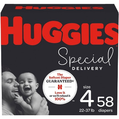 Huggies Special Delivery Hypoallergenic Baby Disposable Diapers Super Pack - Size 4 - 58ct