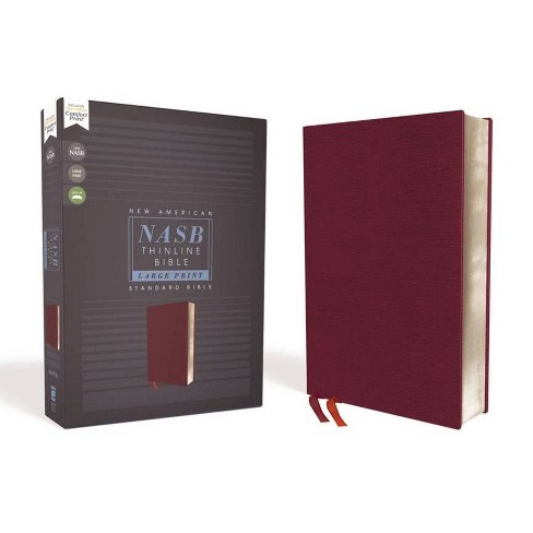 Nasb, Thinline Bible, Large Print, Bonded Leather, Burgundy, Red Letter Edition, 1995 Text, Comfort - image 1 of 1
