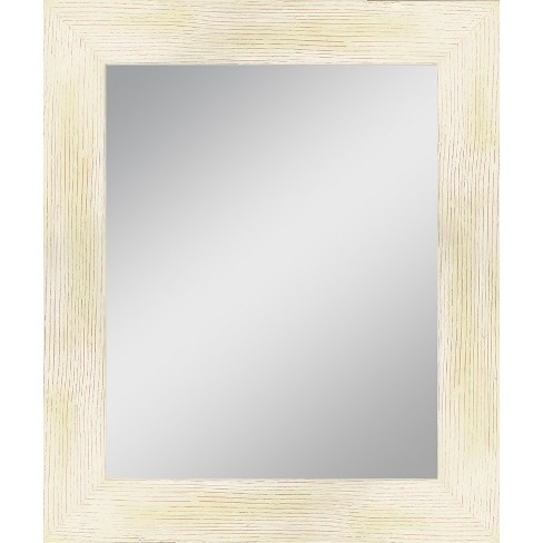 Rectangle Reclaimed Wood Vanity Decorative Wall Mirror Black - PTM Images - image 1 of 1