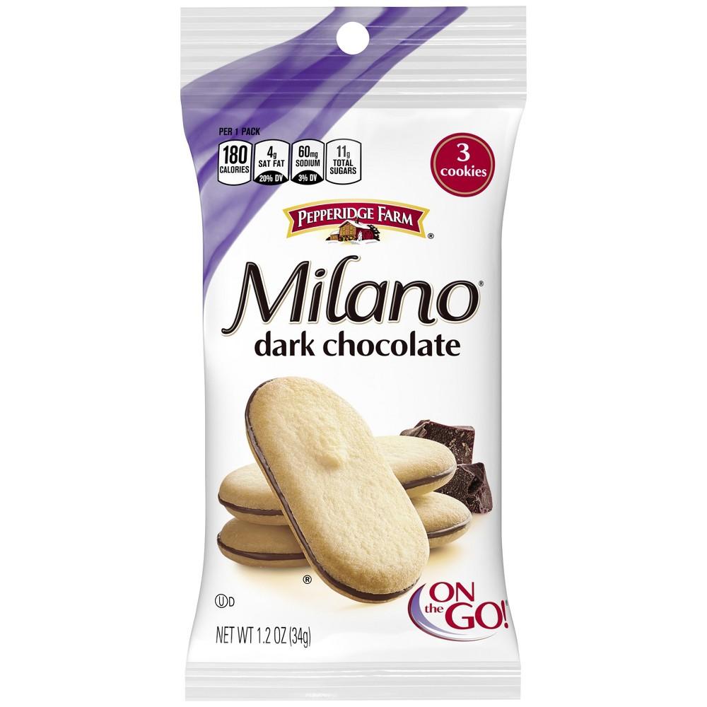 Pepperidge Farm Milano Dark Chocolate Cookies, 1.2oz Single-Serve Snack Pack